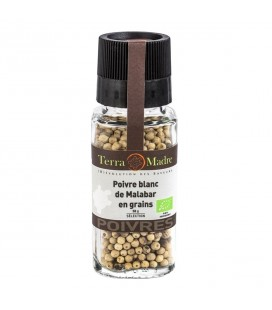 Poivre Blanc Malabar bio en grains