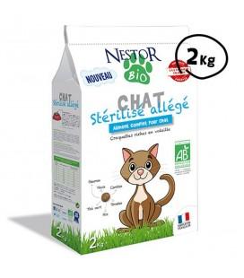 Croquettes allégées pour chat stérilisé bio & SANS CÉRÉALES