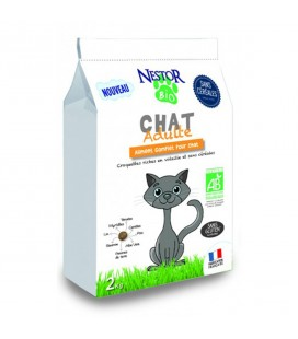 Croquettes pour chat adulte bio & SANS CÉRÉALES