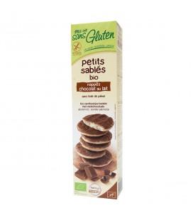 Petits sablés chocolat au lait bio & sans gluten