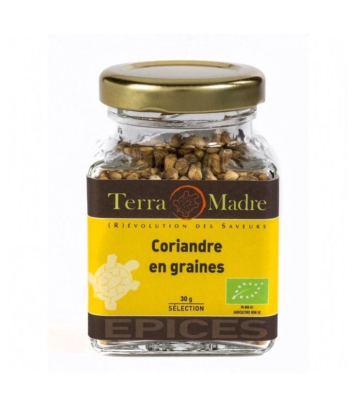 Coriandre en grains bio (petit pot)