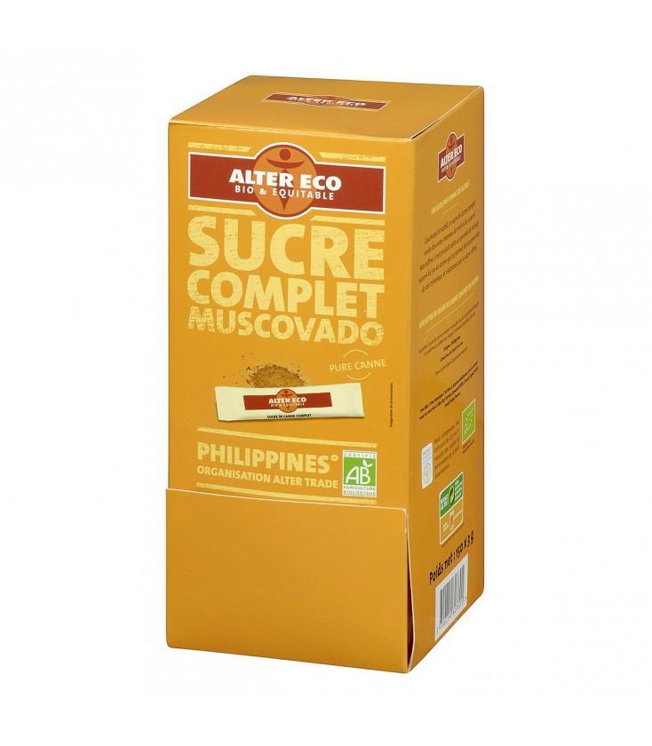 150 bûchettes Sucre de Canne Complet Mascobado en poudre bio et équitable