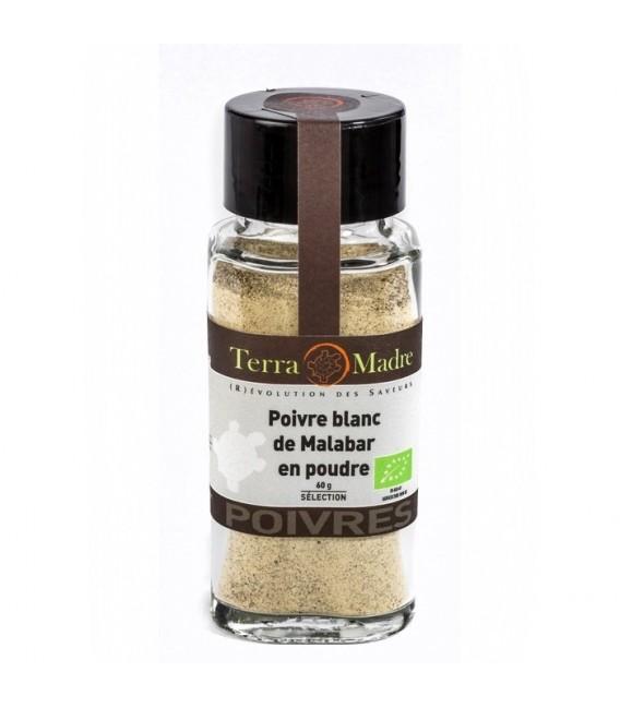 Poivre Blanc Malabar bio en poudre