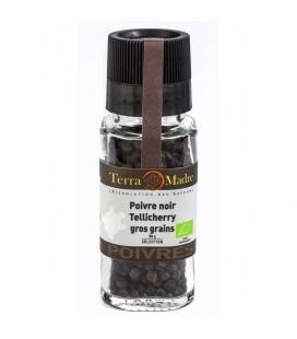Poivre noir Tellicherry gros grains bio