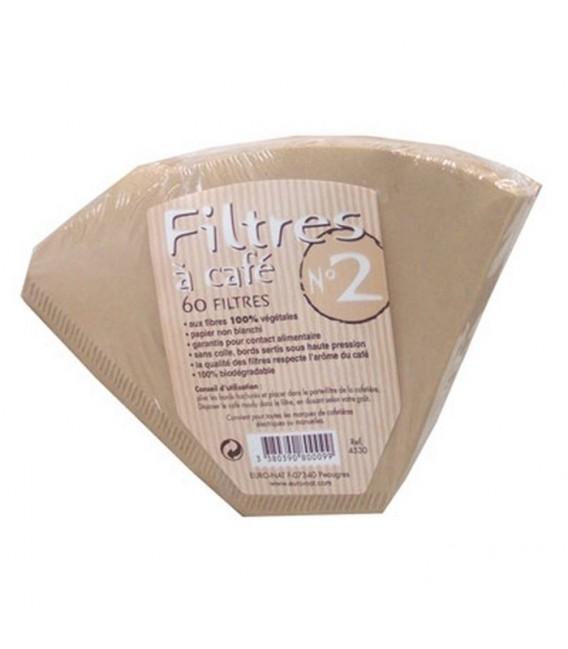 Filtres à Café N°2 (petit) aux fibres 100% végétales