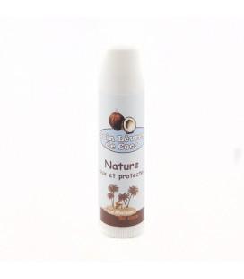 Baume de soin lèvres à l'huile de coco en stick