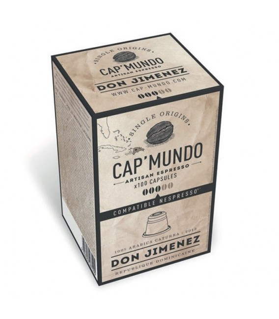 100 Capsules de Café DON JIMENEZ 100% Arabica Caturra (Expresso)