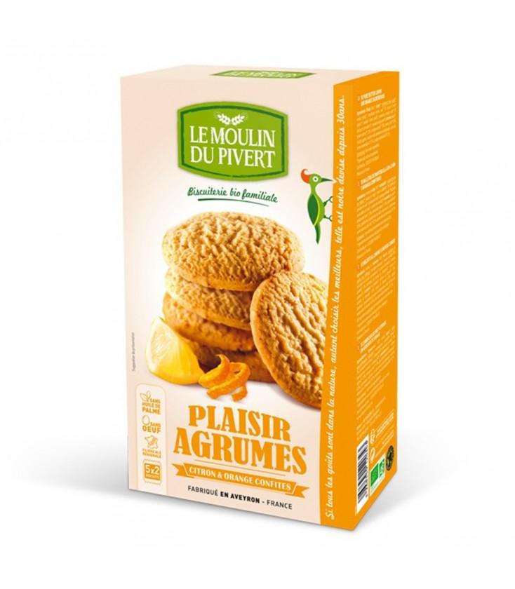 Plaisir Agrumes, biscuits pur beurre au citron et à l'orange confits bio