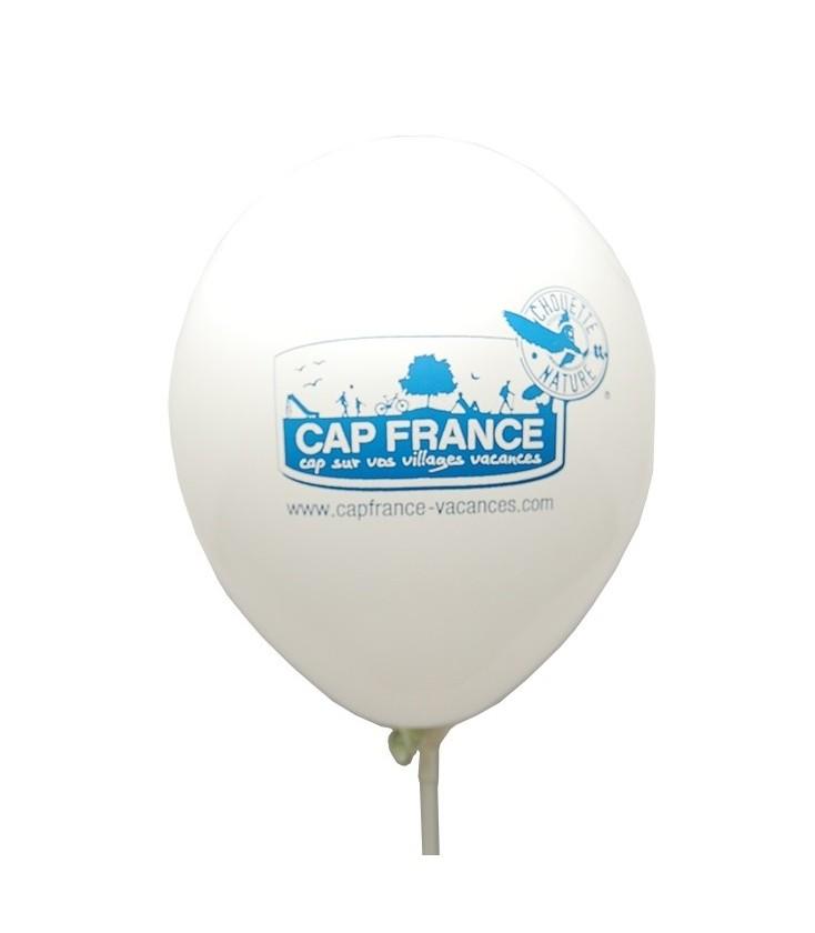 Ballon de baudruche biodégradable avec logo Chouette Nature
