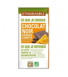 Chocolat Noir Orange Confite bio & équitable