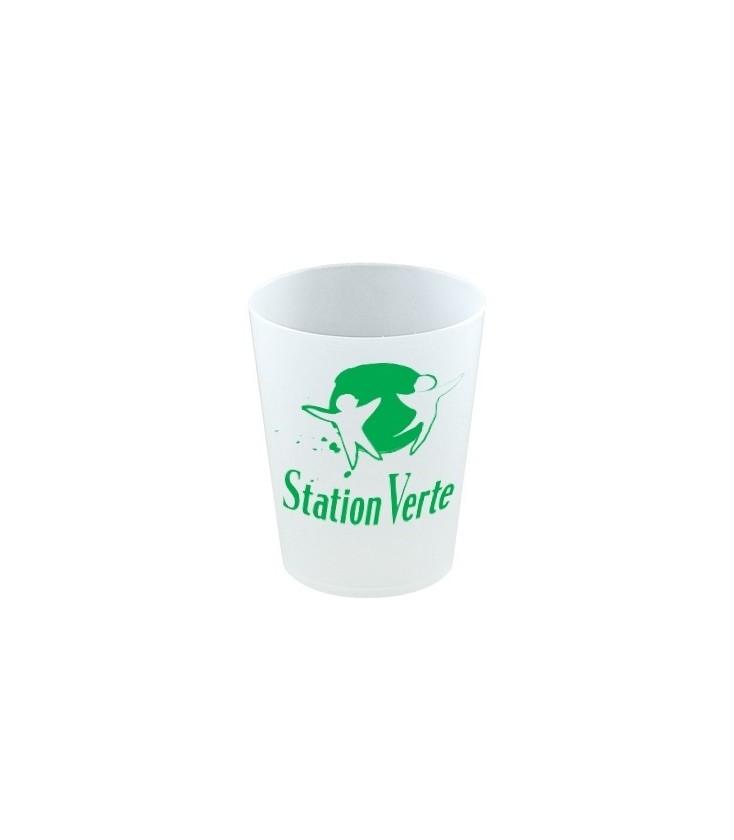 Verre gobelet réutilisable Station Verte 20 cl