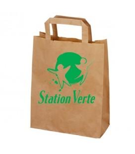 Sac Papier Kraft Brun Station Verte 35x26x12cm