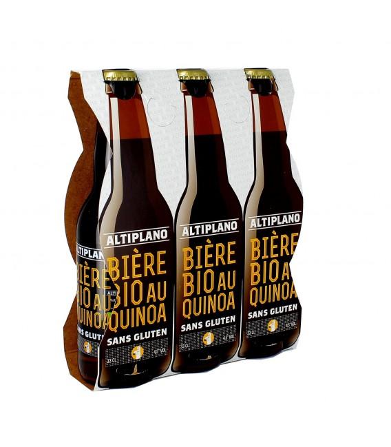 Pack de 3 bières au quinoa bio et sans gluten