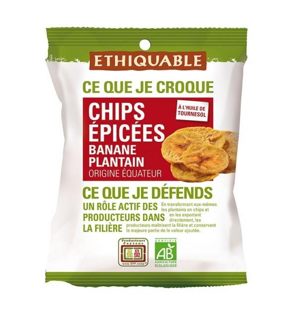 Chips ÉPICÉES Banane Plantain bio & équitable