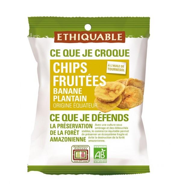 Chips FRUITÉES Banane Plantain bio & équitable