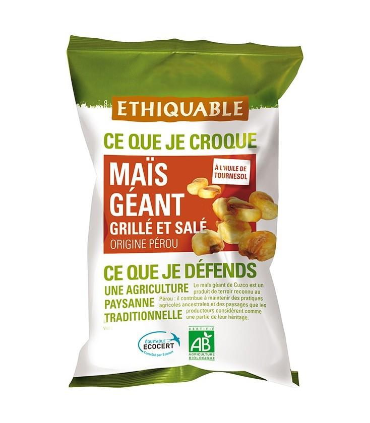 Maïs géant grillé et salé bio & équitable