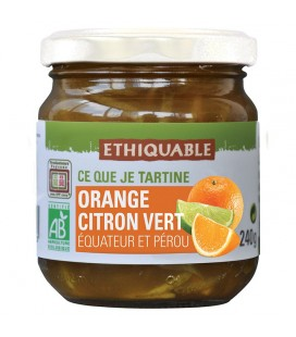 Confiture Orange Citron Vert bio, équitable