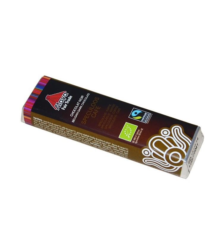 Barre de chocolat noir au spéculoos café bio & équitable