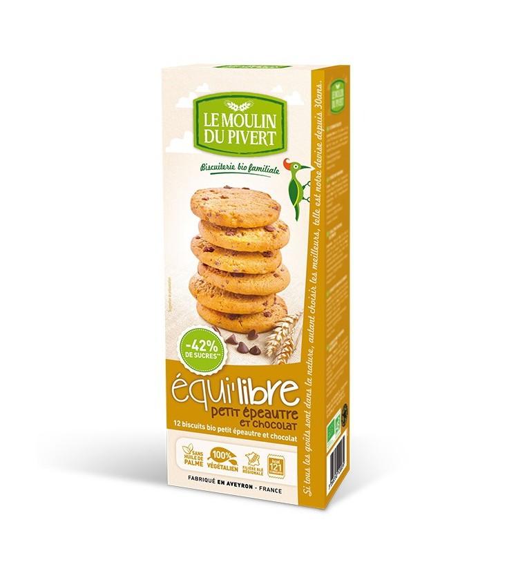 Biscuits bio Equilibre petit épeautre et chocolat