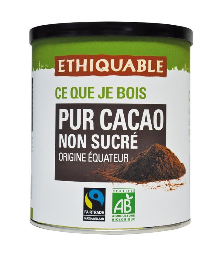 Pur Cacao en poudre non sucré bio & équitable