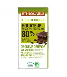 Chocolat Noir Grand Cru 80% bio & équitable