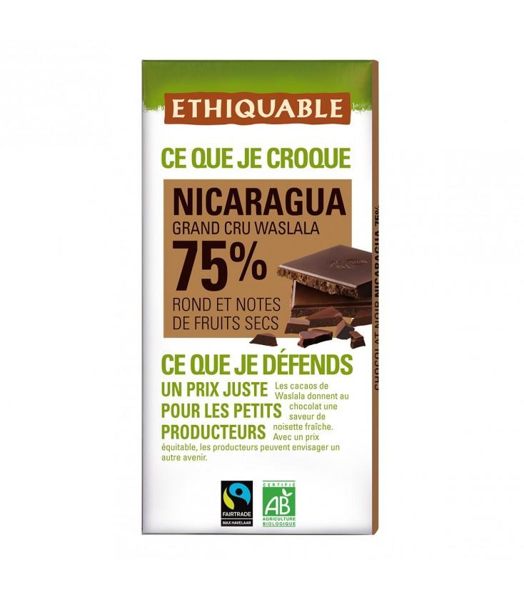 Chocolat Noir Grand Cru 75% bio & équitable