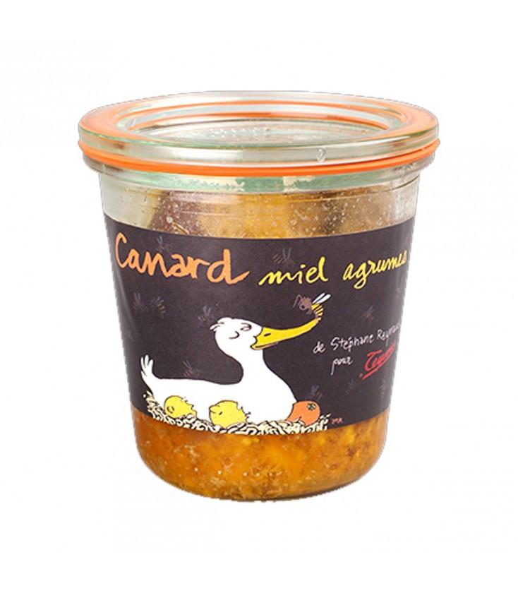 Verrine Canard miel agrumes