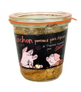 Verrine Cochon pommes pain d'épices
