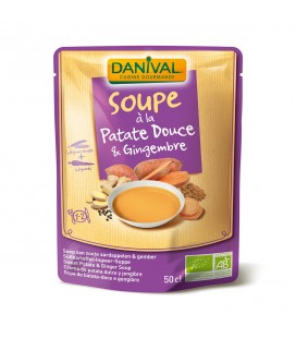 Soupe bio à la Patate Douce & Gingembre