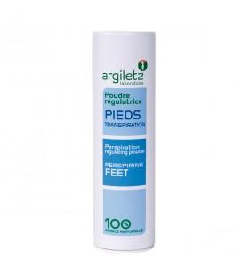 Poudre régulatrice pour les pieds à base d'argile verte