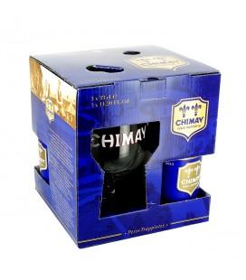 Coffret Chimay bleue 3 x 33 cl + verre - Abbaye de Chimay