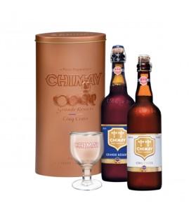 Coffret Prestige : Grande Réserve + Cinq CentsCoffret Cadeau Métal bière Chimay Grande Réserve 2015 - Abbaye de Chimay