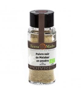 Poivre noir de Malabar bio en poudre
