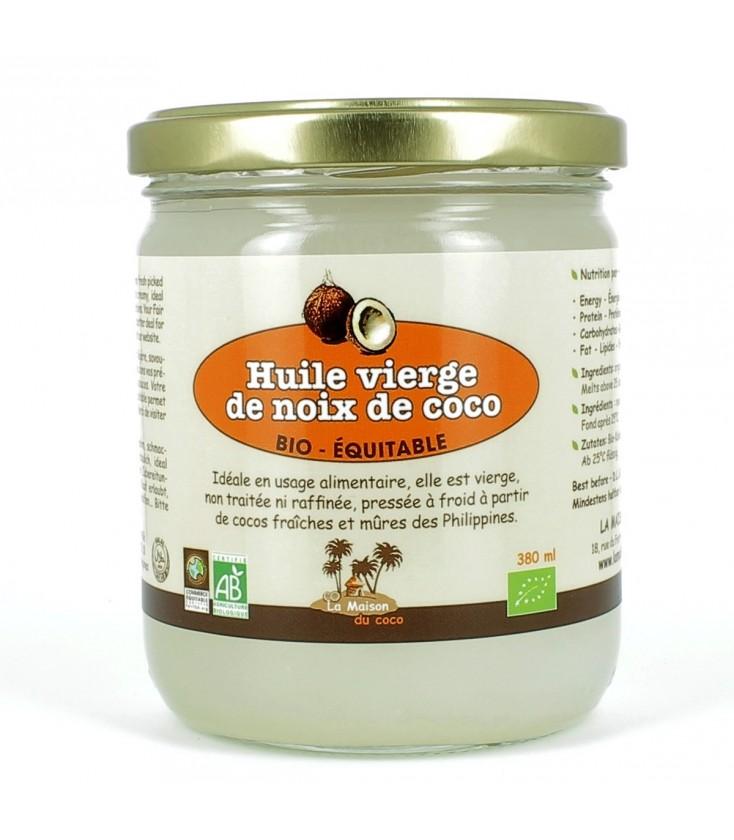 Huile vierge de coco bio & équitable
