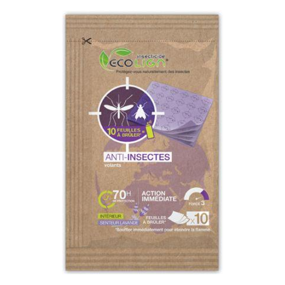 Cahier Anti Moustiques Insectes Volants 10 Feuilles
