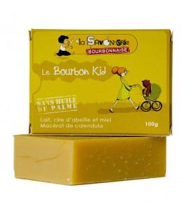 """Savon """"Le Bourbon Kid"""" au lait de chèvre, miel, calendula 100% bio"""