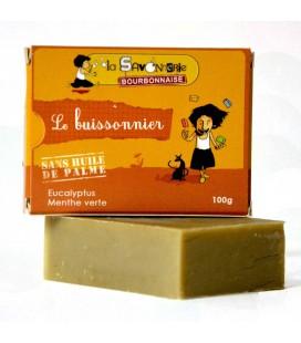 """Savon """"Le Buissonnier"""" à la menthe et l'eucalyptus 100% bio & vegan"""