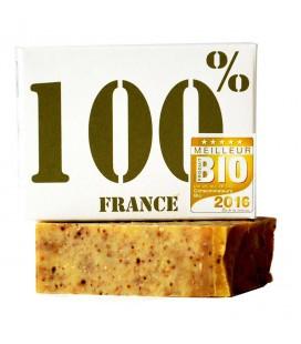 """Savon """"Le 100% France"""" à l'huile d'olive, propolis, miel 100% bio"""