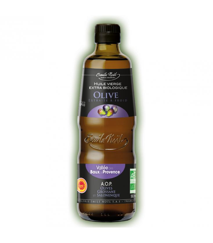 Huile d'olive vierge extra biologique de la vallée des Baux-de-Provence A.O.P.