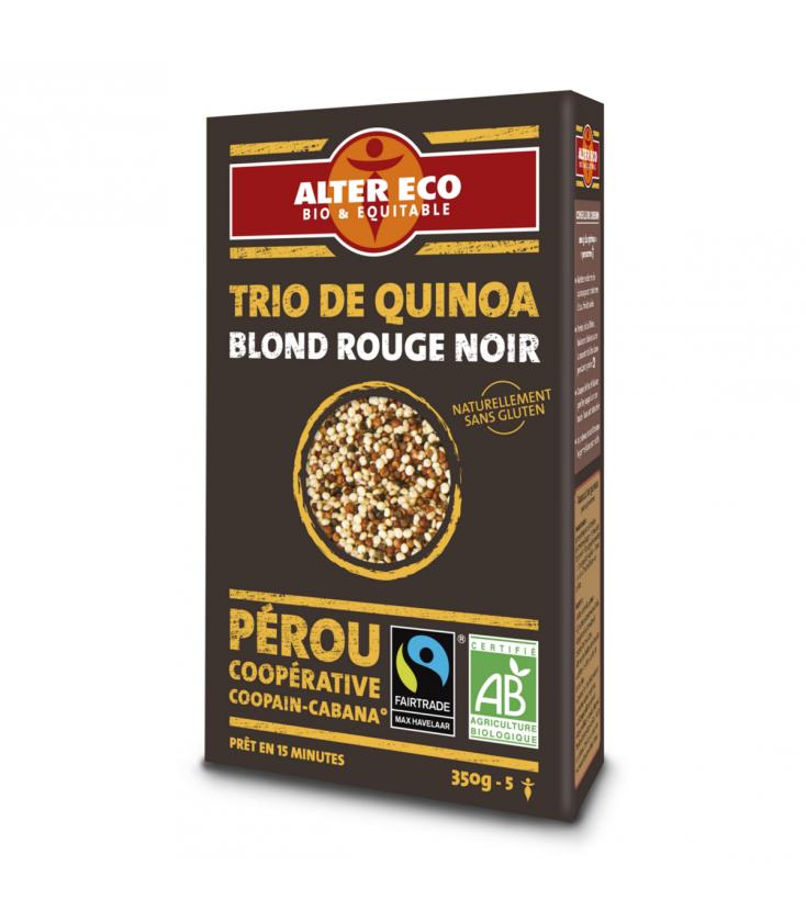 Trio de quinoa blond rouge noir bio & équitable