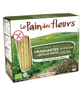 Tartines craquantes aux lentilles vertes bio & sans gluten