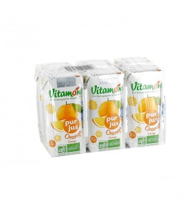 Pur jus d'orange bio - Pack de 6 mini briques