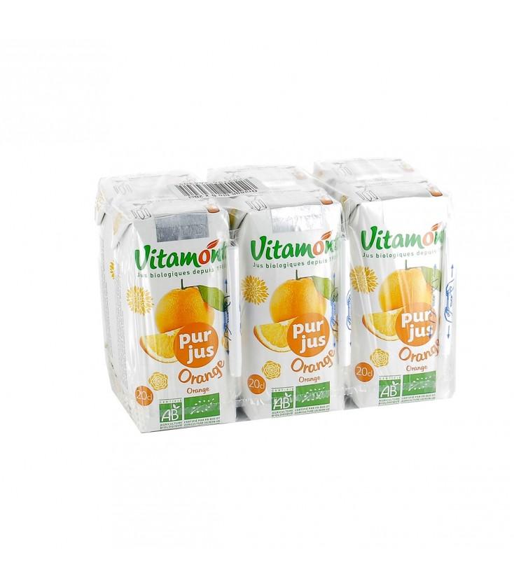 Pur jus d'orange bio - Pack de 6 mini briques