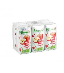 DATE DÉPASSÉE - Pur jus de pomme bio - Pack de 6 mini briques