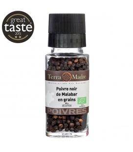 Poivre noir bio de Malabar en grains