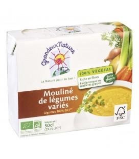 Mouliné de légumes variés bio & sans gluten, 2 x 25 cl