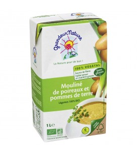 Mouliné de poireaux et pommes de terre bio & sans gluten
