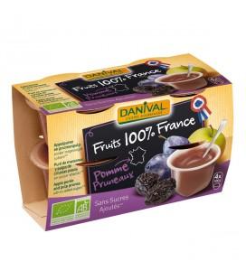 Purée 100% France Pomme Pruneaux bio