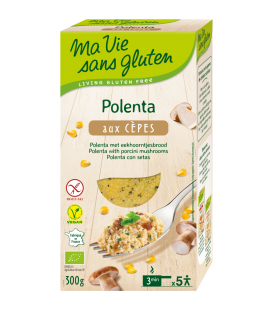 Polenta aux cèpes bio & sans gluten