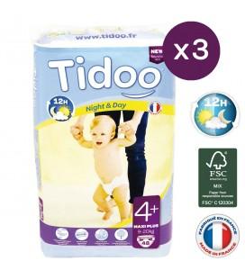 Jumbo MAXI+ 3x48 couches écologiques T4+ - 9 à 20 kg